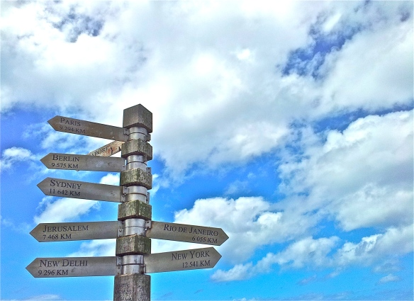 Signpost and sky