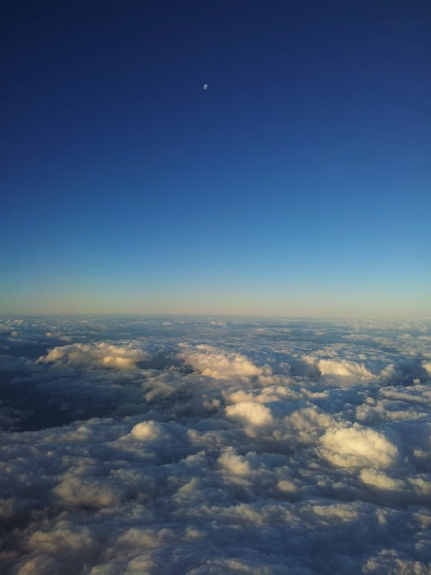 View from up above the clouds.
