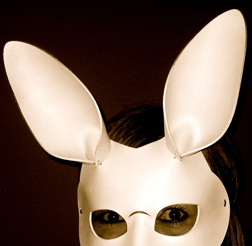 White rabbit mask.