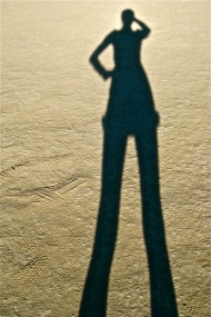 Chasquita's shadow at Burning Man.