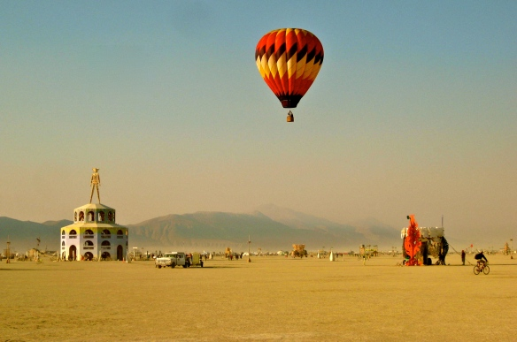 View of Burning Man.
