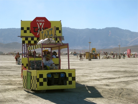 An art car taxi at Burning Man.