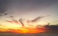 Fiery clounds in the sky.