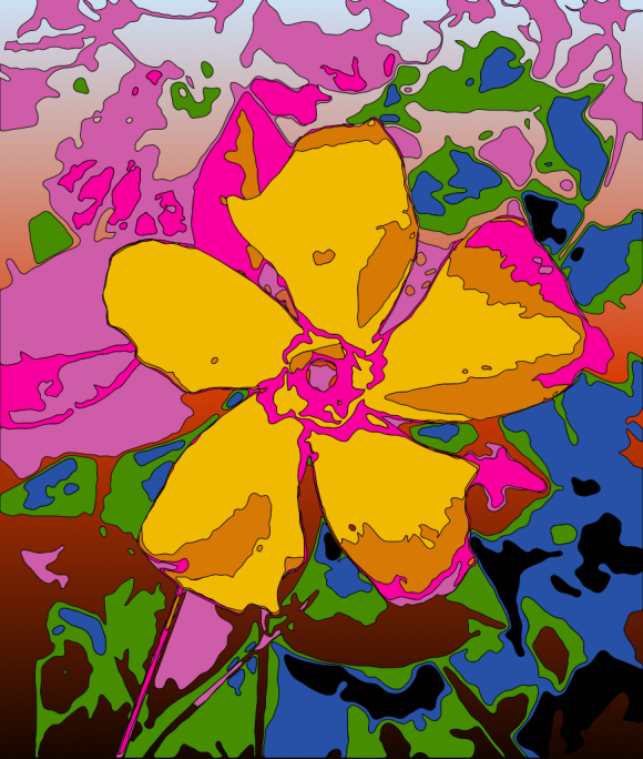 Colourful abstract flower art.