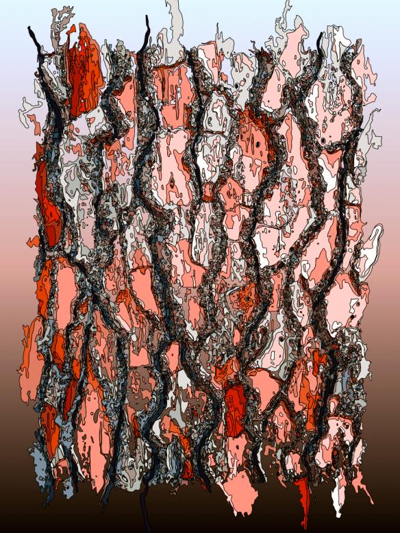 Manipulated image of tree bark.